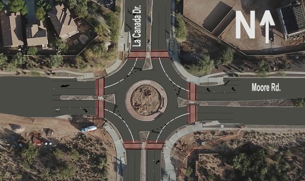 Roundabout layout
