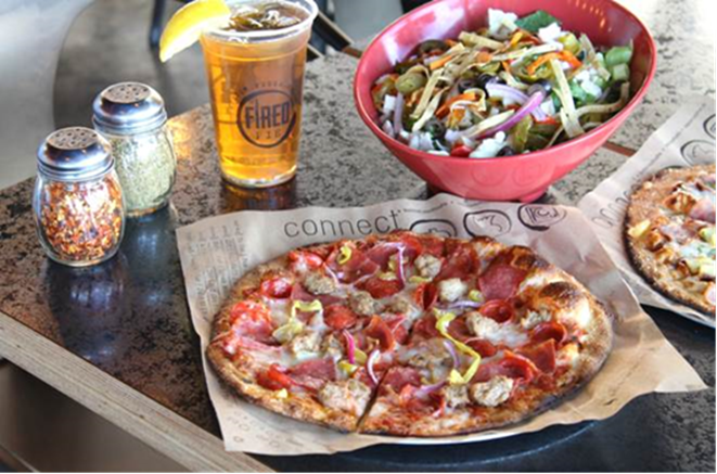 Buy a drink, get a $4 pizza