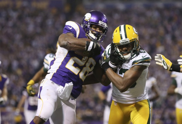 NFC wild card: Vikings (10-6) at packers (11-5): Pack aims to be 'smarter' vs. Peterson