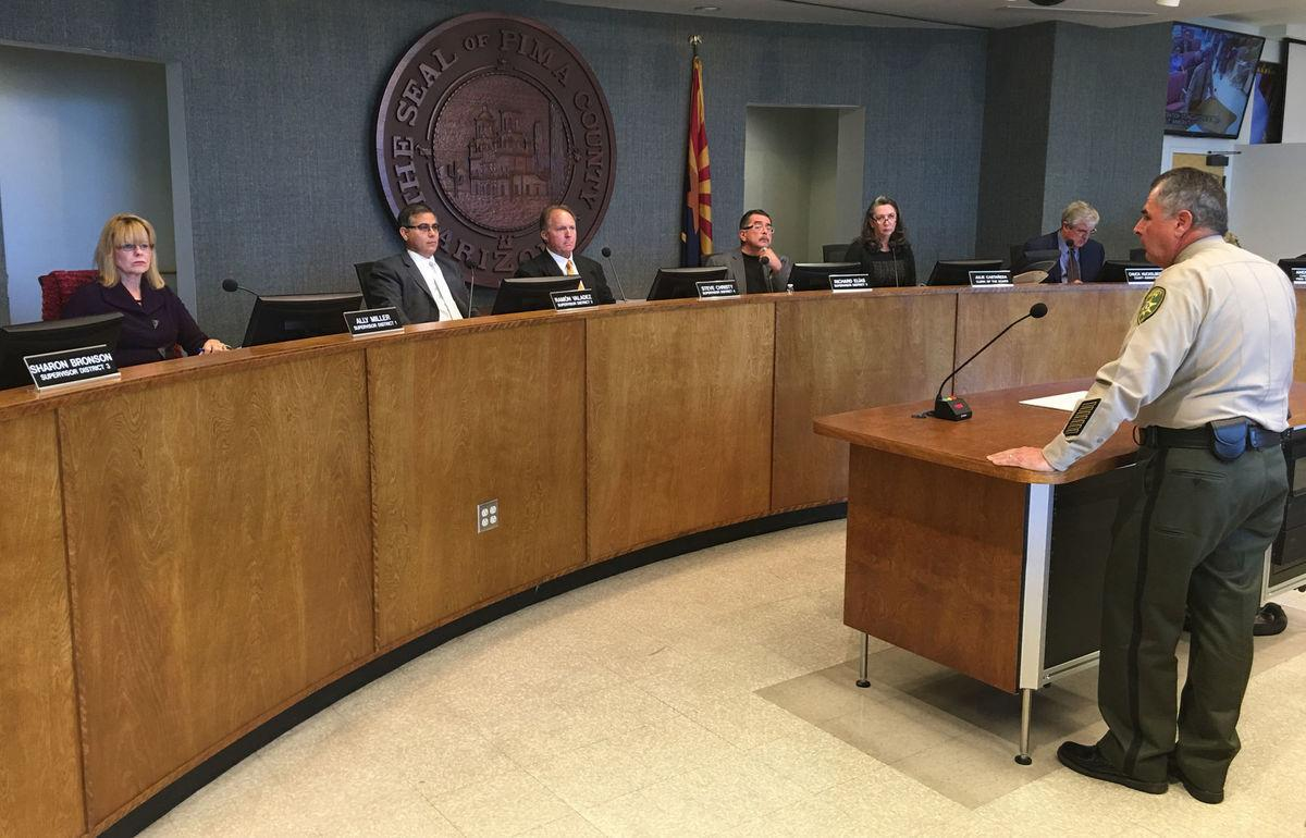 Sheriff Napier addresses Pima County supervisors