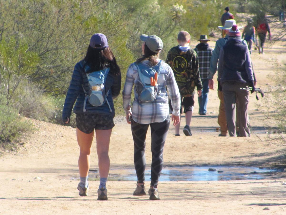 Hikers in Sabino