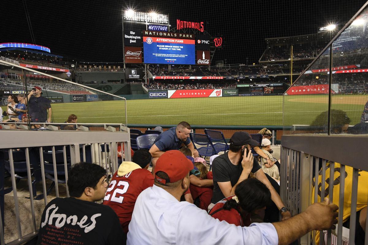 APTOPIX Padres Nationals Baseball