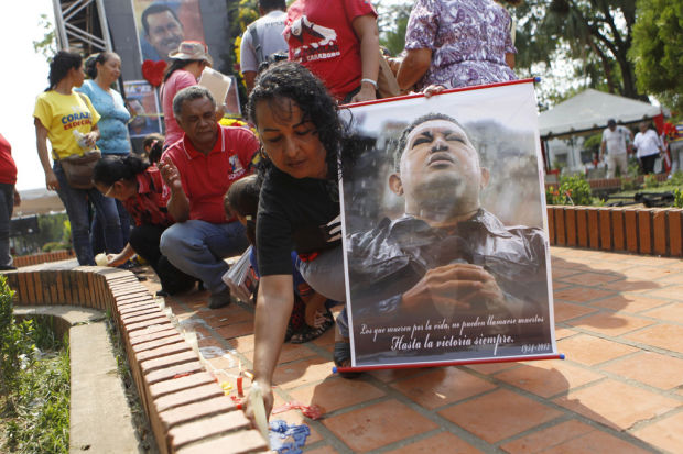 Chavez eulogized with fiery words