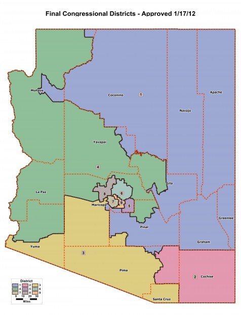 Arizona's 2012 congressional districts