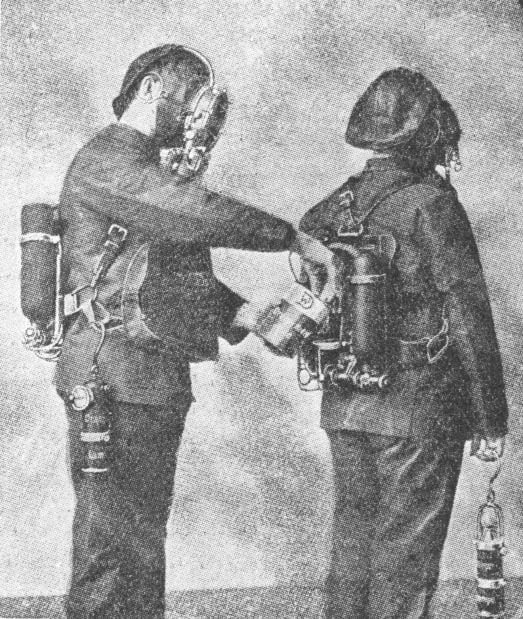 Mine rescue breathing apparatus