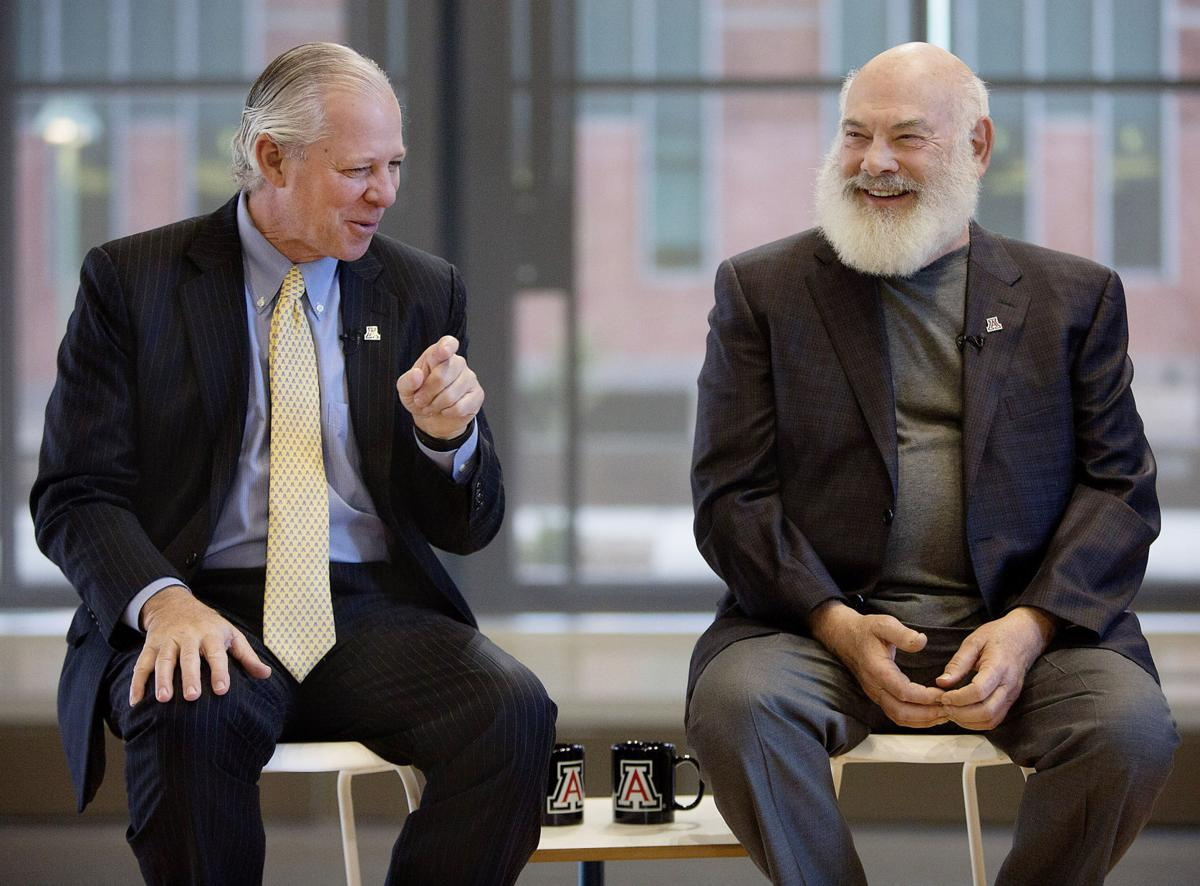 UA President Robert Robbins and Dr. Andrew Weil