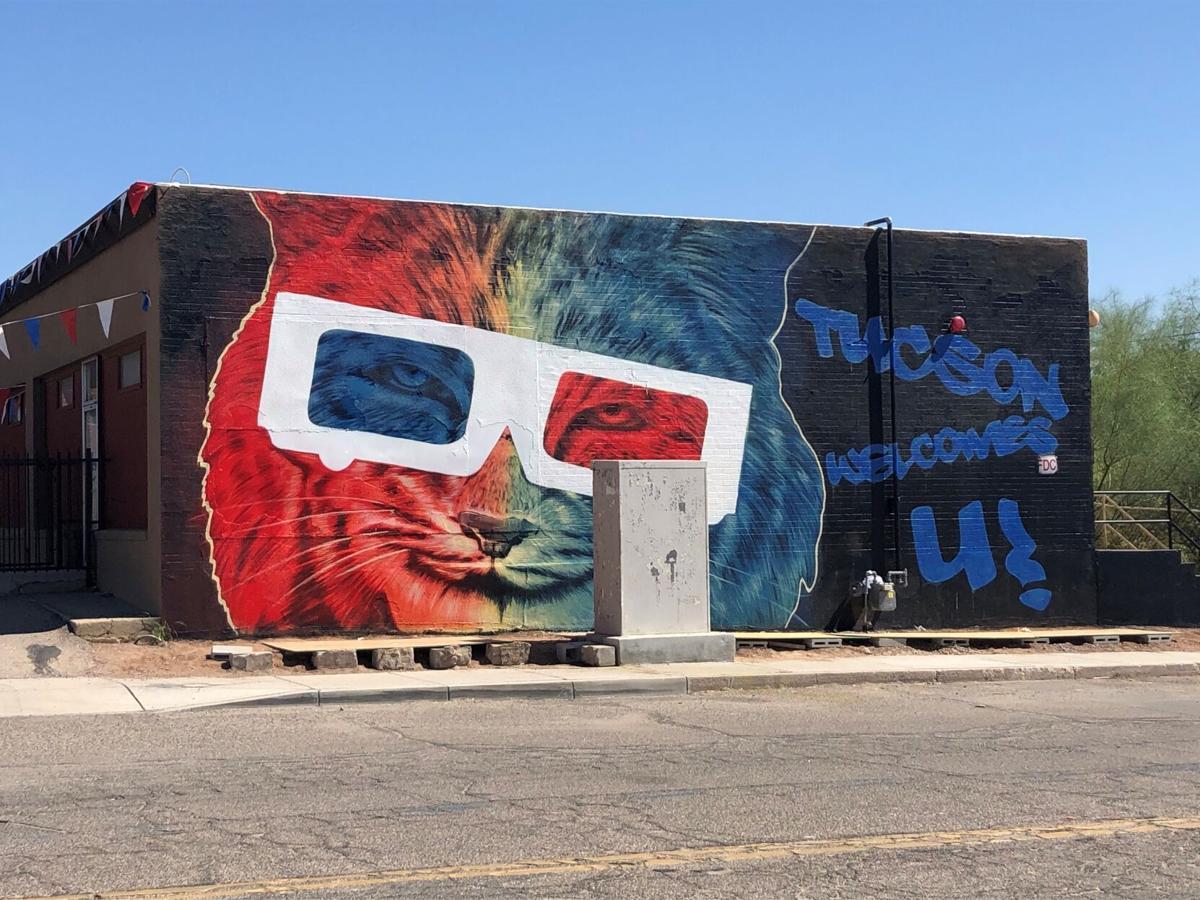 Ignacio Garcia Wildcat mural