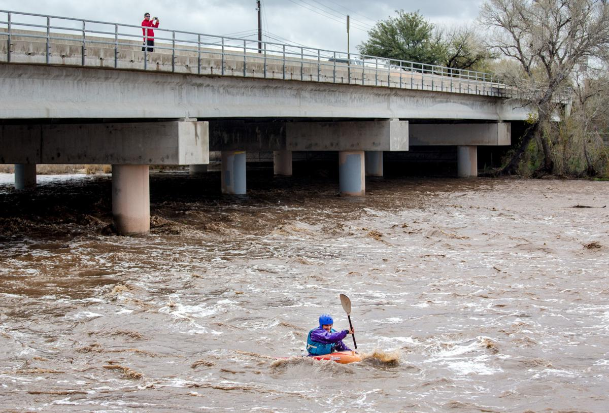 Kayaker on the Rillito