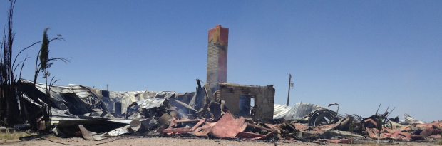 Home where IEDs were found burns down
