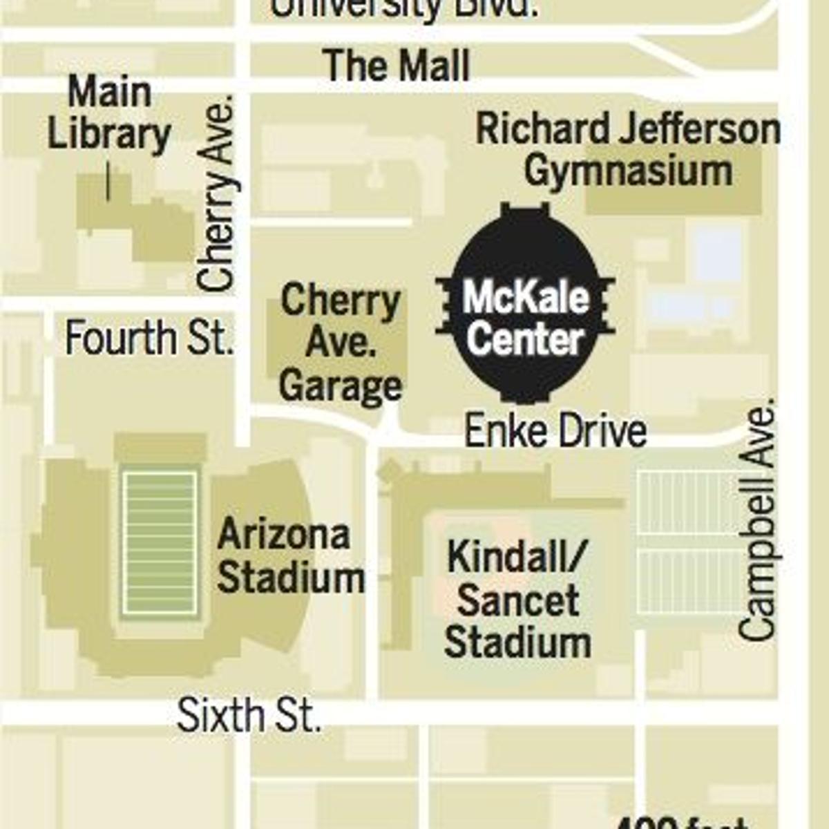 McKale Center map | | tucson com