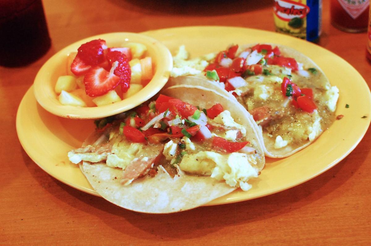 Breakfast tacos at Baja Cafe