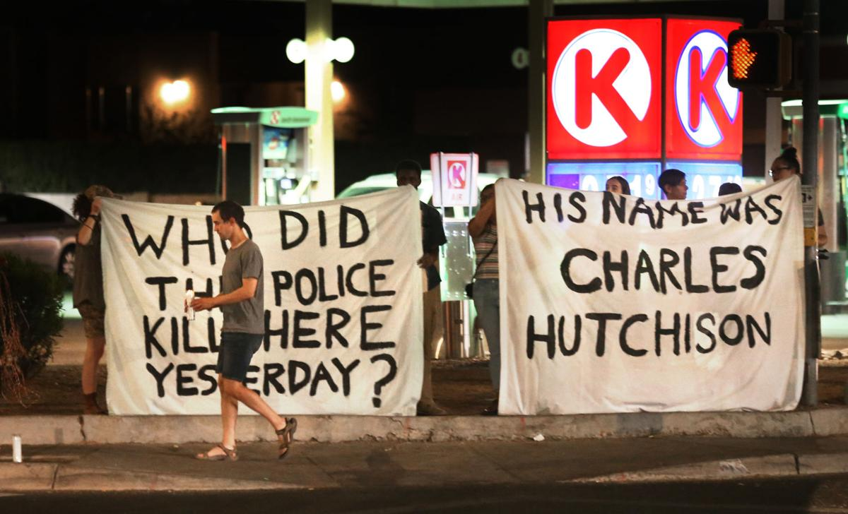 TPD shooting protest