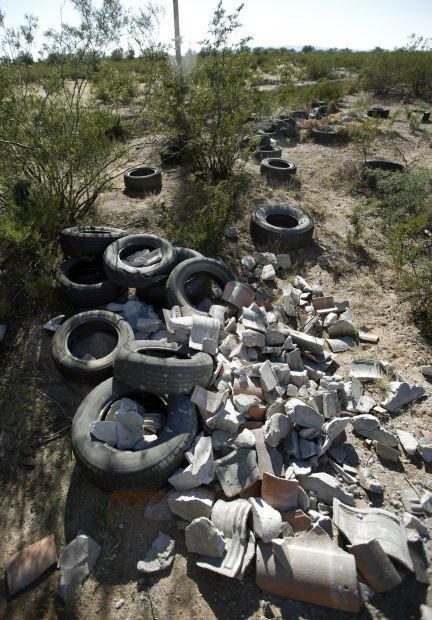 Illegal Dumping Littering Area With Tons Of Trash Local