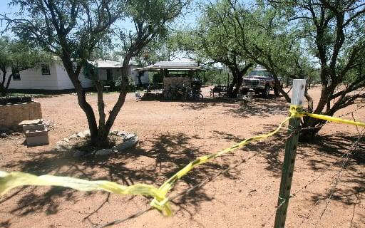 Flores home, crime scene