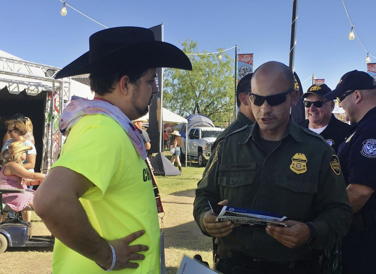 Border Patrol casts agent recruiting net at fairs, rodeos