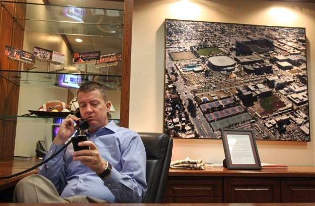 A day with new UA athletic director Greg Byrne