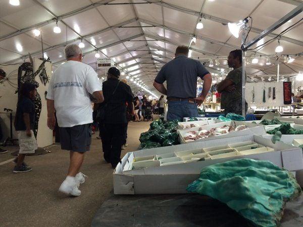 Tucson gem show tents