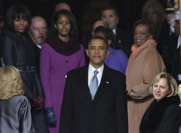 Time to act, Obama declares, taking oath of office 2nd time