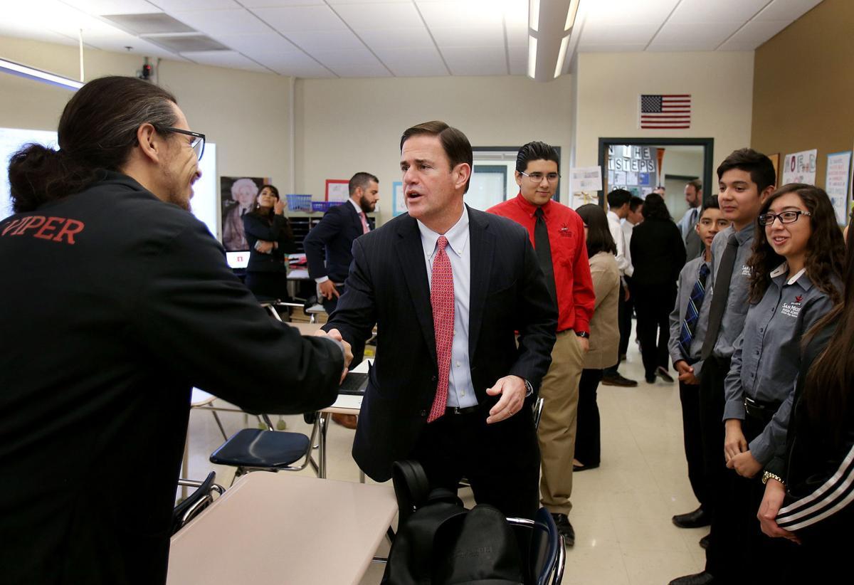 Gov. Doug Ducey visits San Miguel High School