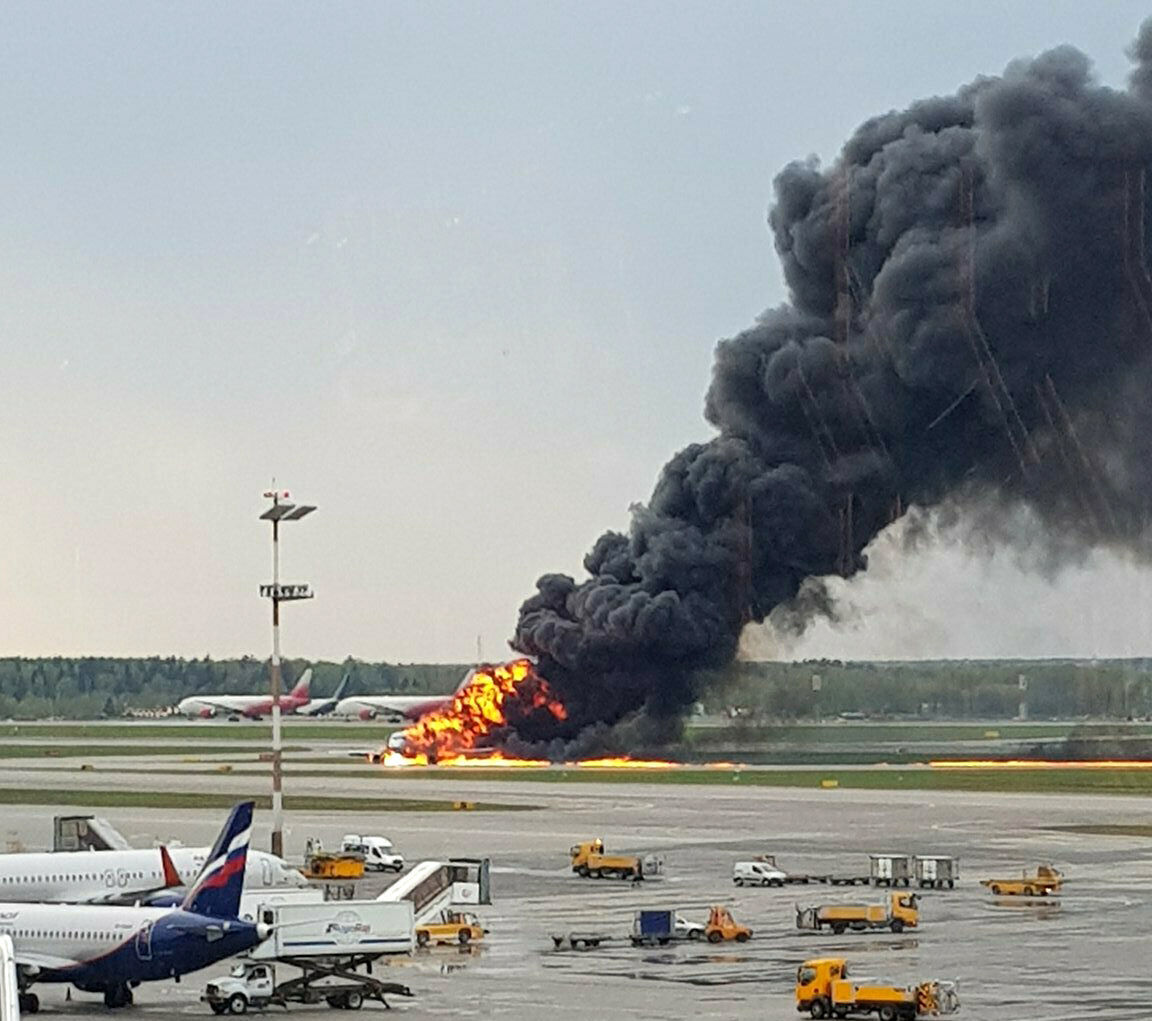 Passengers leap from burning plane as at least 40 die in fiery