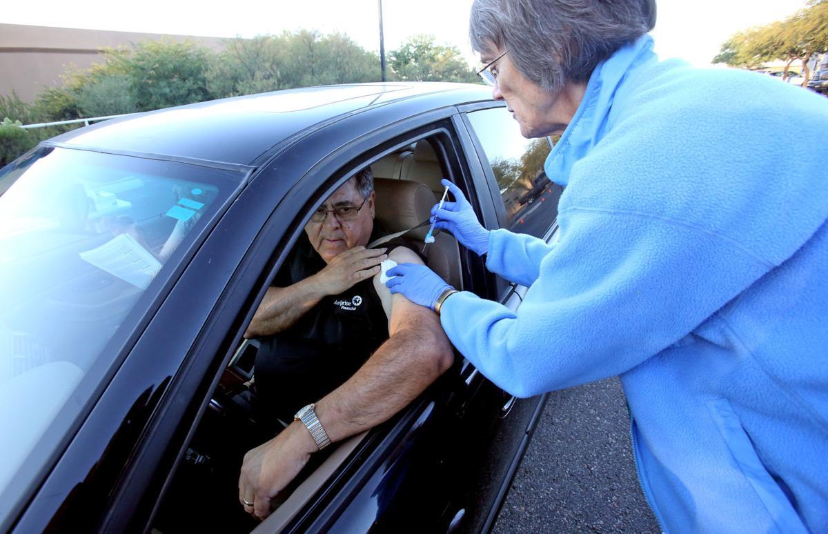 Drive-thru flu shot clinic