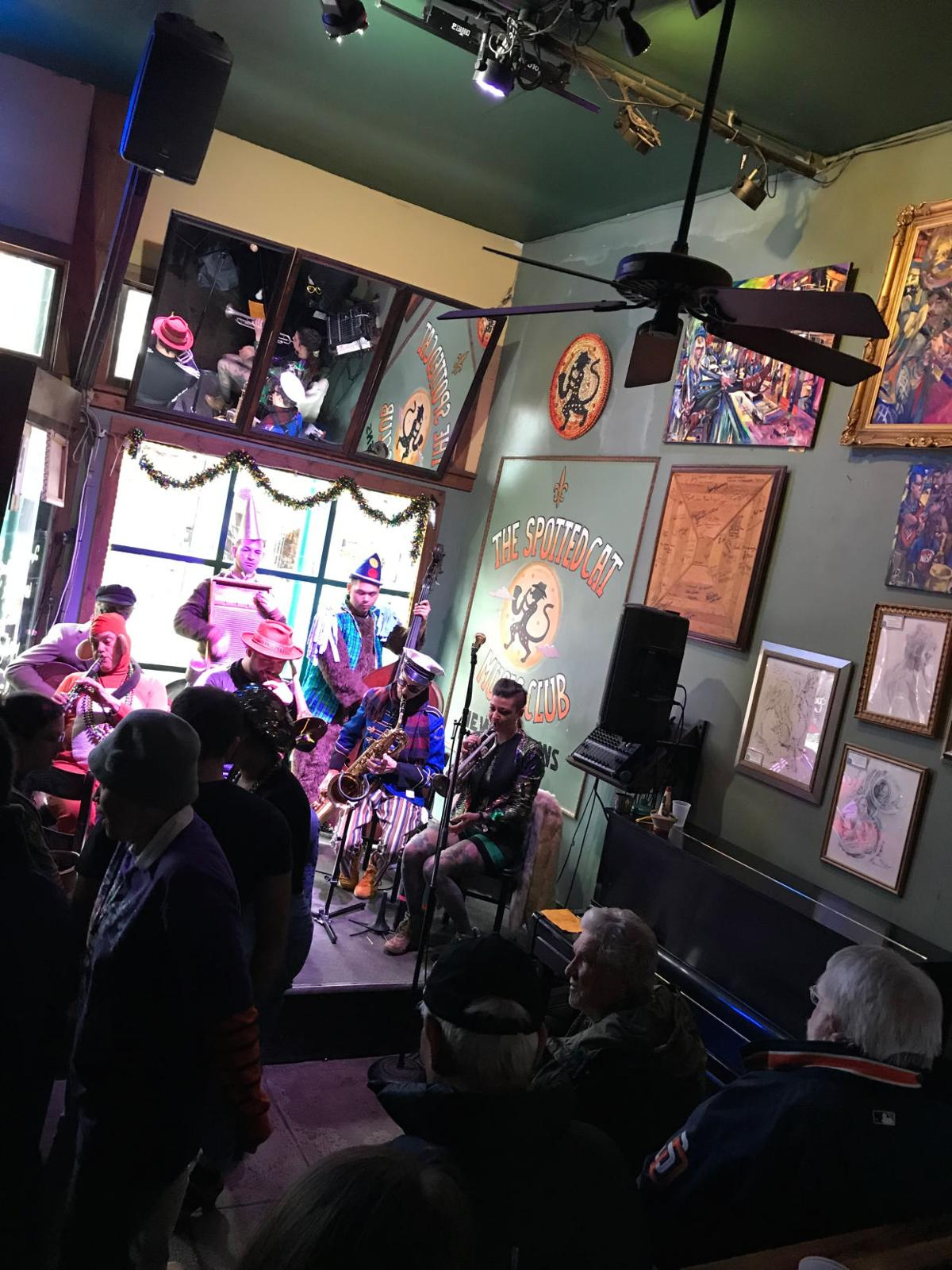 The Spotted Cat Music Club on Frenchmen Street in New Orleans.