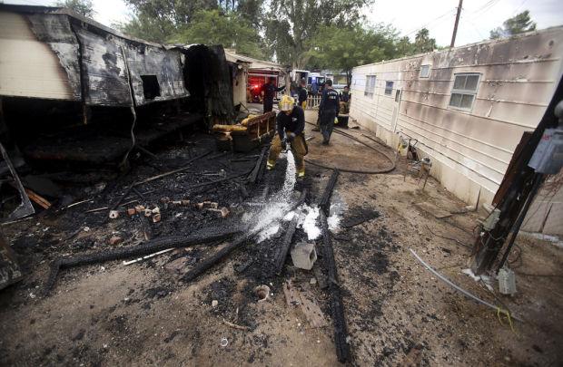 Arson blazes destroy 2 FW-area mobile homes