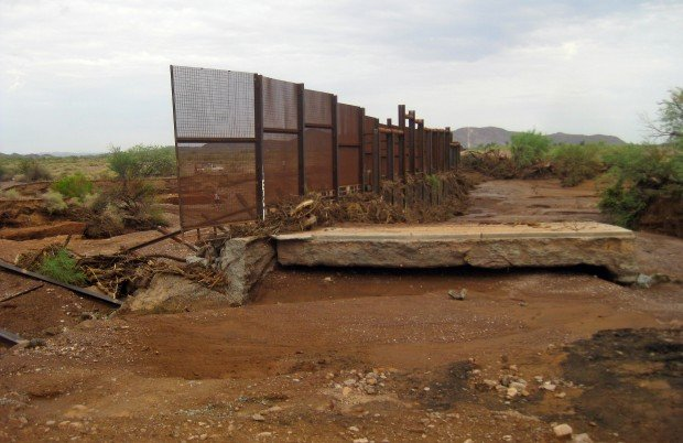 Rain washes away 40 feet of US-Mexico border fence