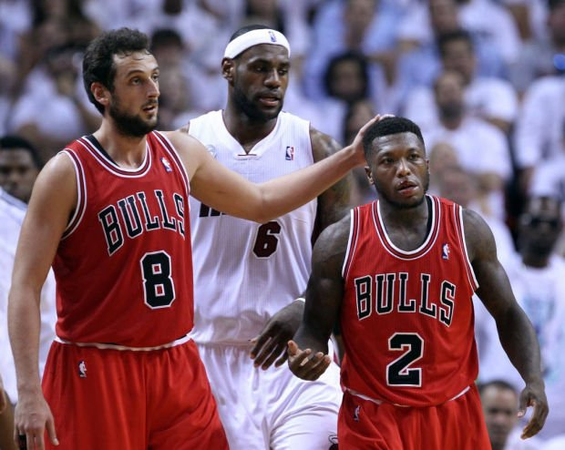 NBA Playoffs: Bulls 93, Heat 86: Short-handed Bulls rally to win series opener