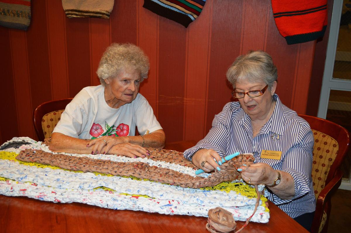 Homeless benefit from seniors' project to upcycle grocery bags