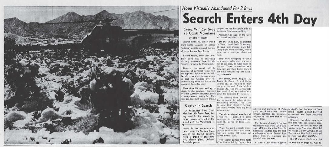 Search enters 4th day (Nov. 19, 1958)