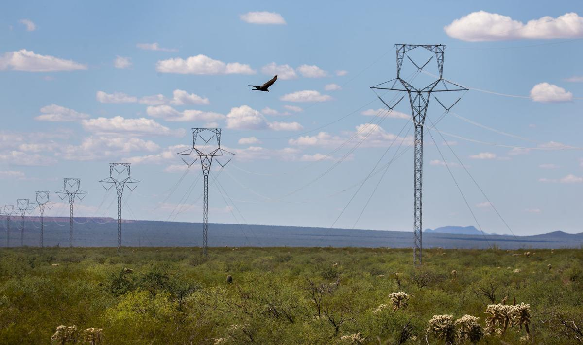TEP transmission lines and proposed solar farm