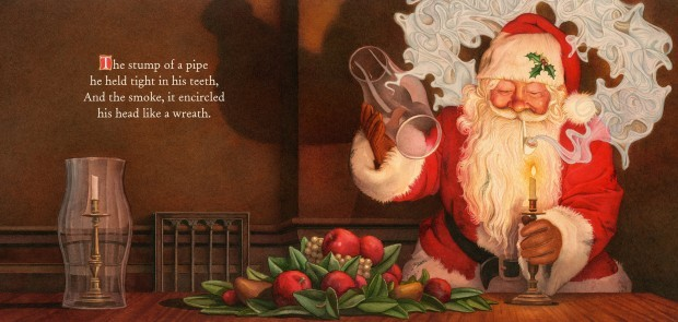 There arose such a clatter over tobacco-free Santa