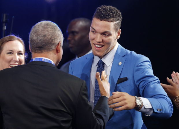 Aaron Gordon on draft day