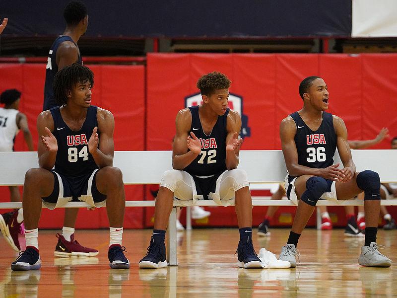 Zeke Nnaji at USA Basketball