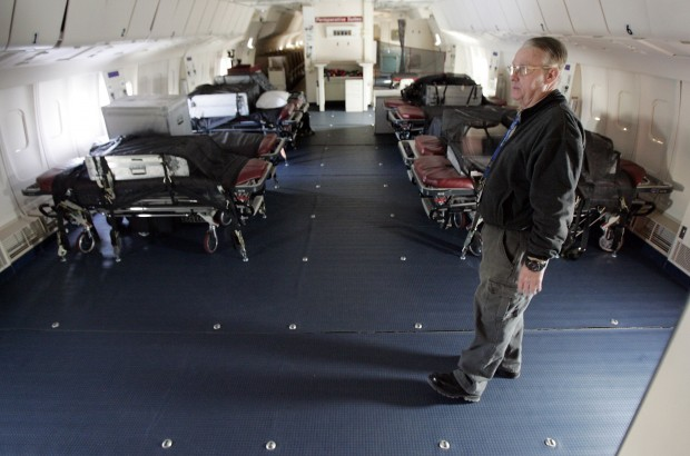 Flying Hospital draws fishy fundraising