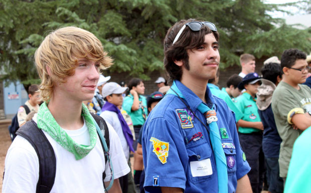 Boy Scouts from U.S. and Mexico