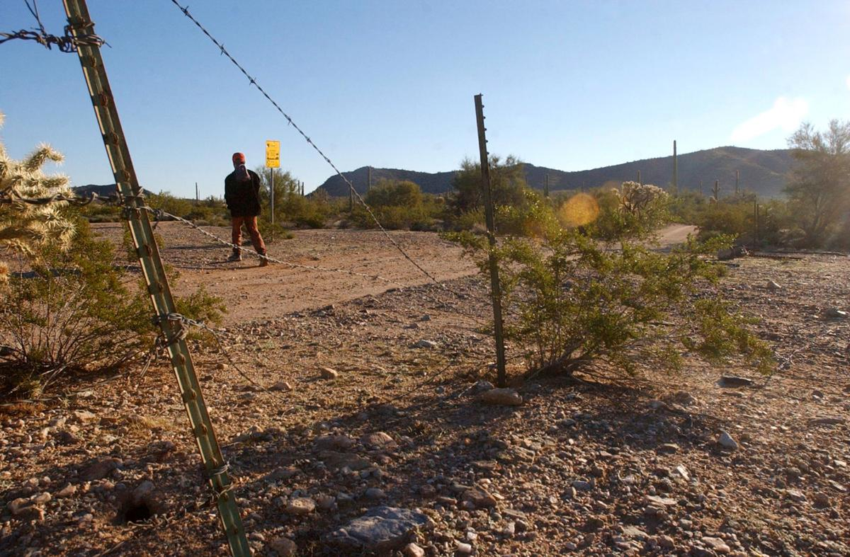 U.S. - Mexico border at Organ Pipe NM, 2003