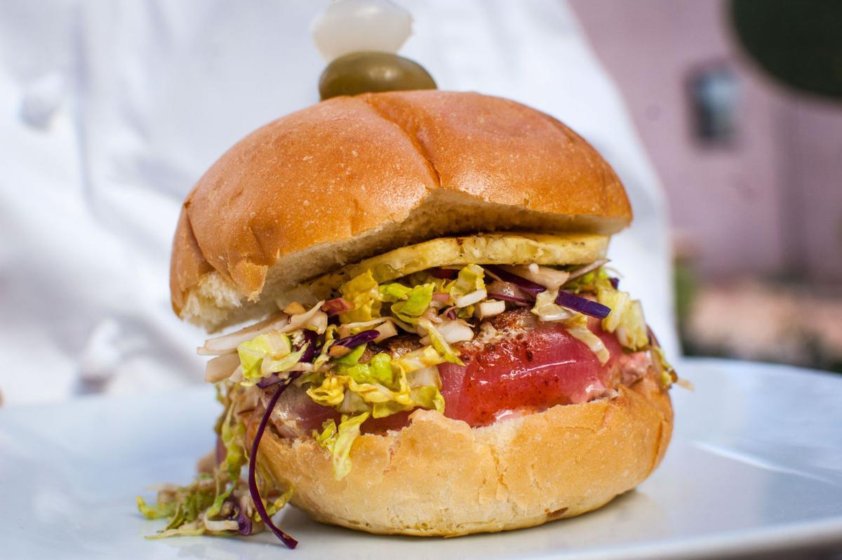 Westward Look's tuna burger with garden slaw