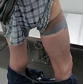 Drugs found on leg of man