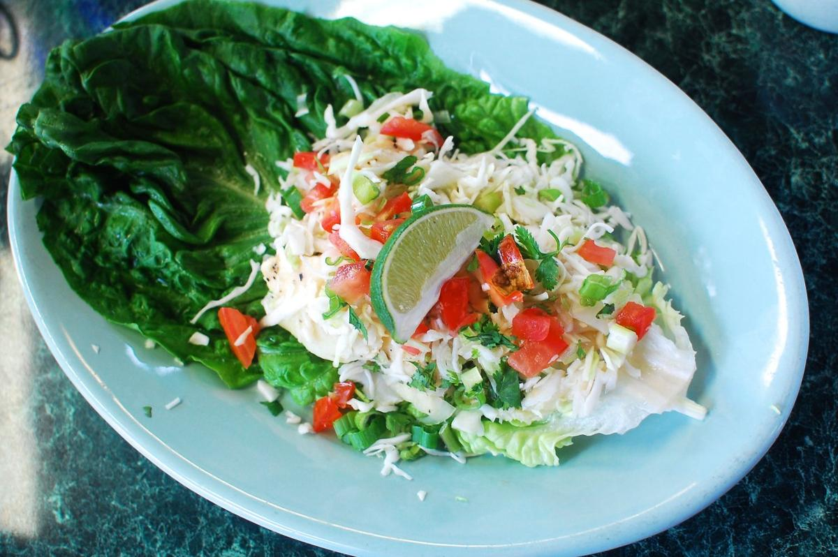 Fish taco at El Saguarito