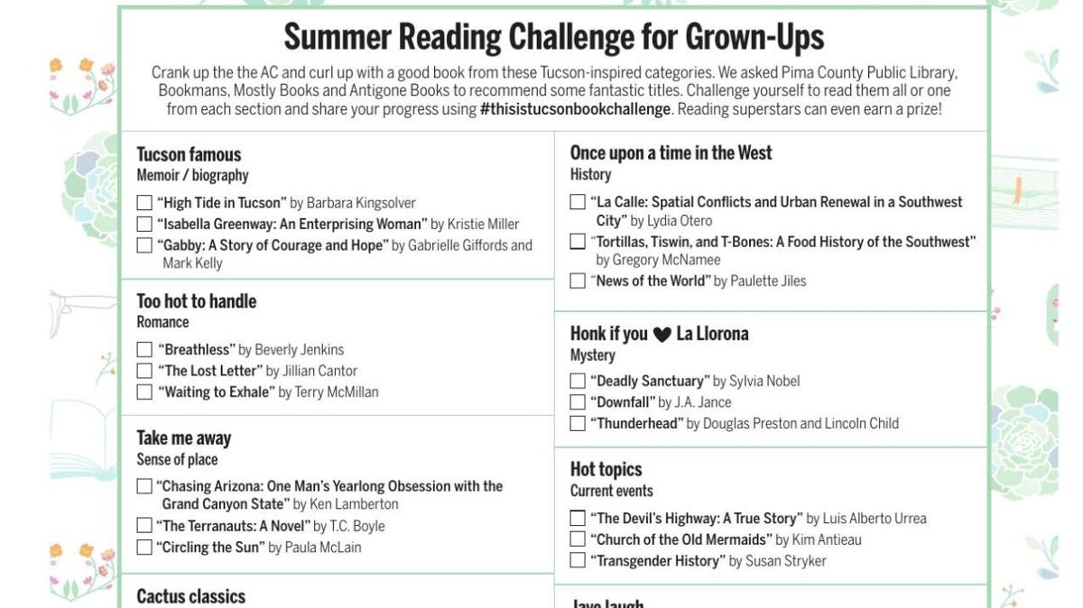 This Is Tucson summer reading challenge list