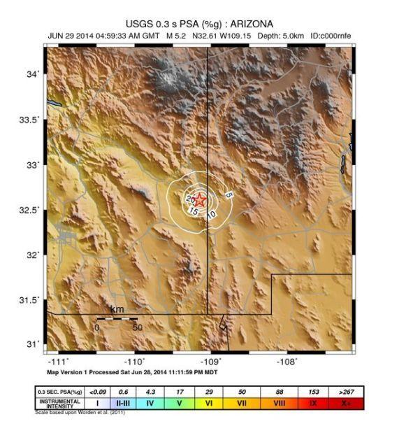 Earthquake Tucson