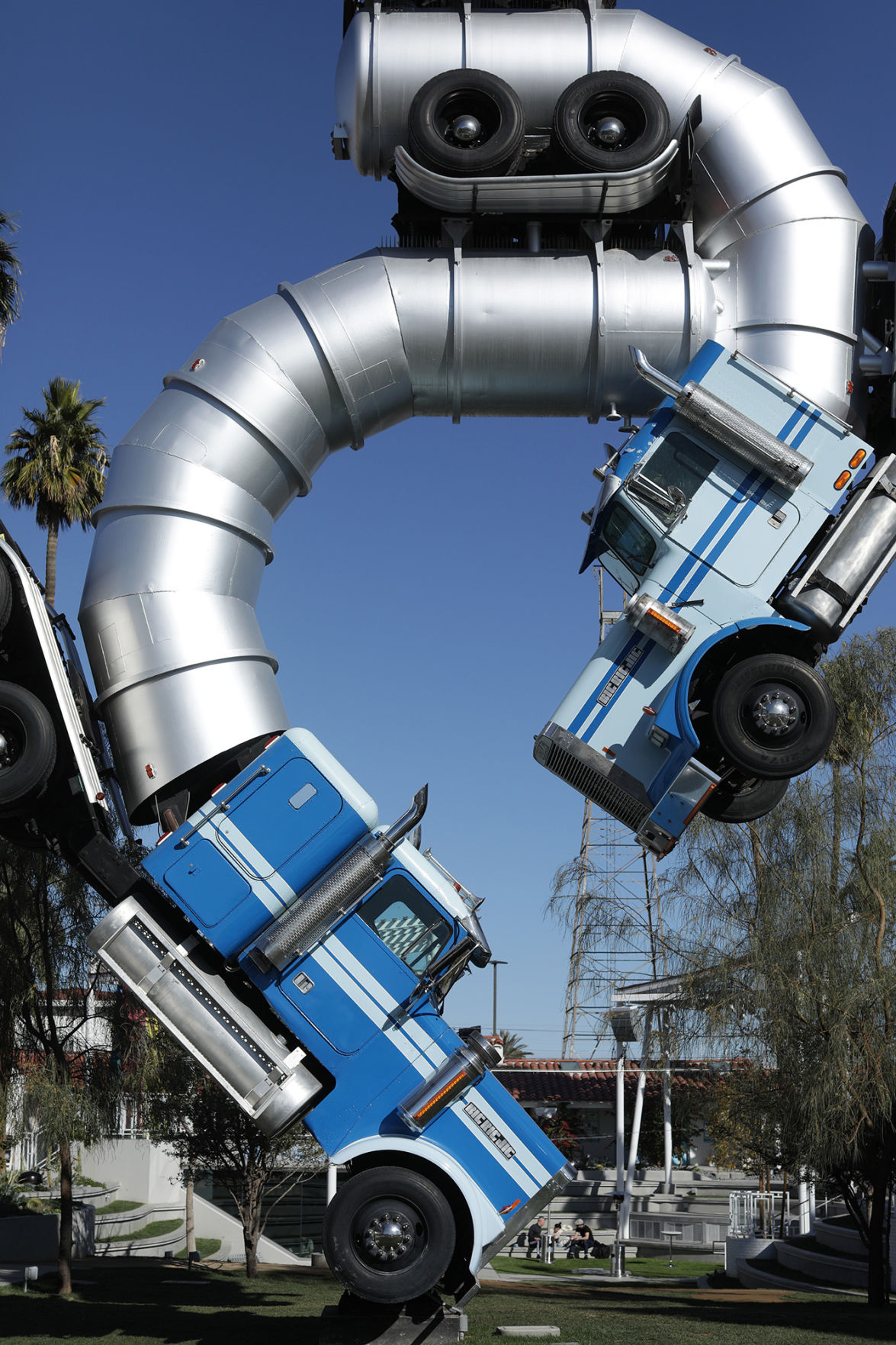 """The """"Big Rig Jig"""" is the signature sculpture at Fergusons Downtown, a space for local, small businesses and makers."""