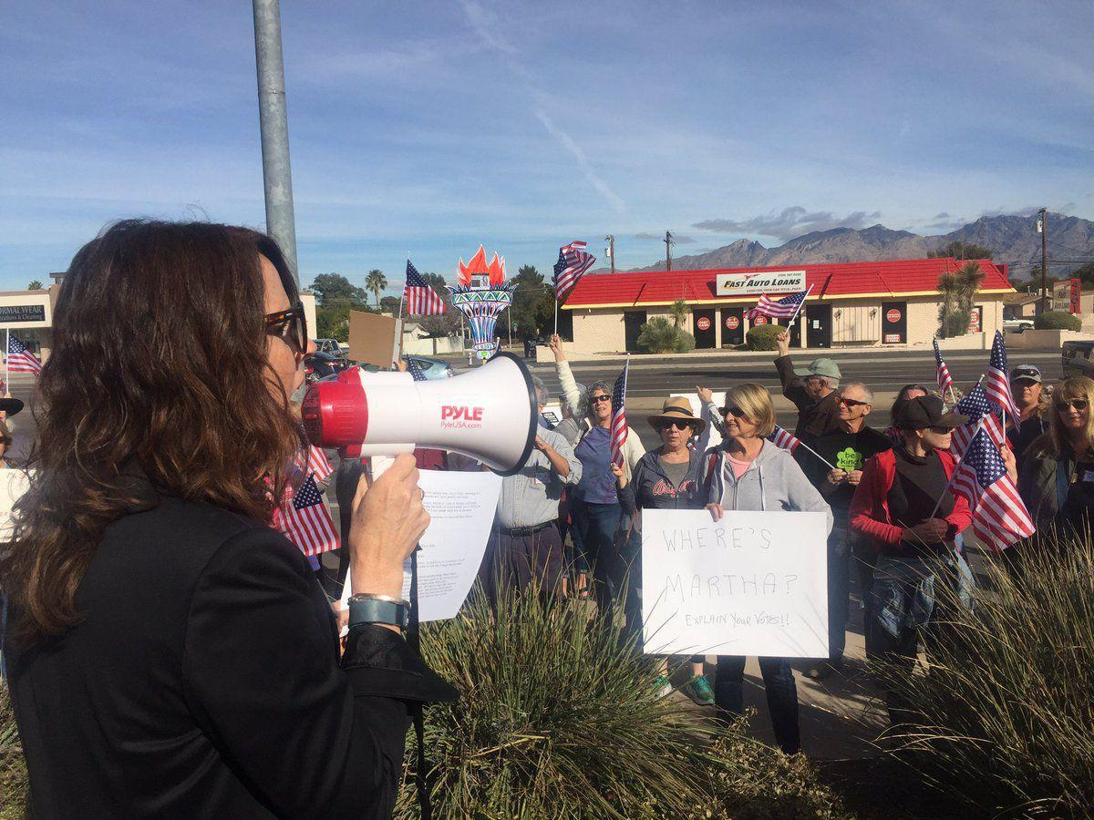 Protest in front of Congresswoman Martha McSally's office