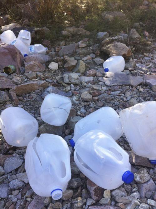 Vandalized humanitarian aid supplies