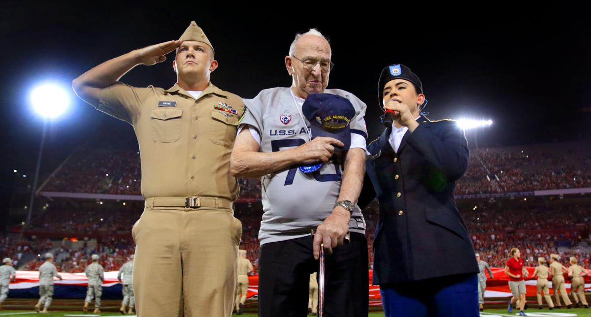 Pearl Harbor survivor Lauren Bruner, honored before 2016 Arizona-Hawaii football game, dies at 98