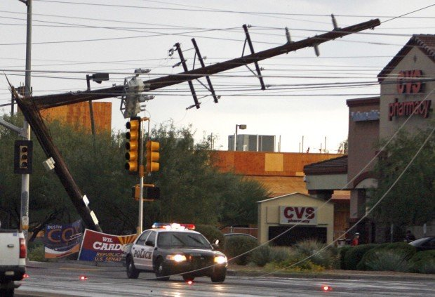 Storms cut power to 13K, leave mess across Tucson
