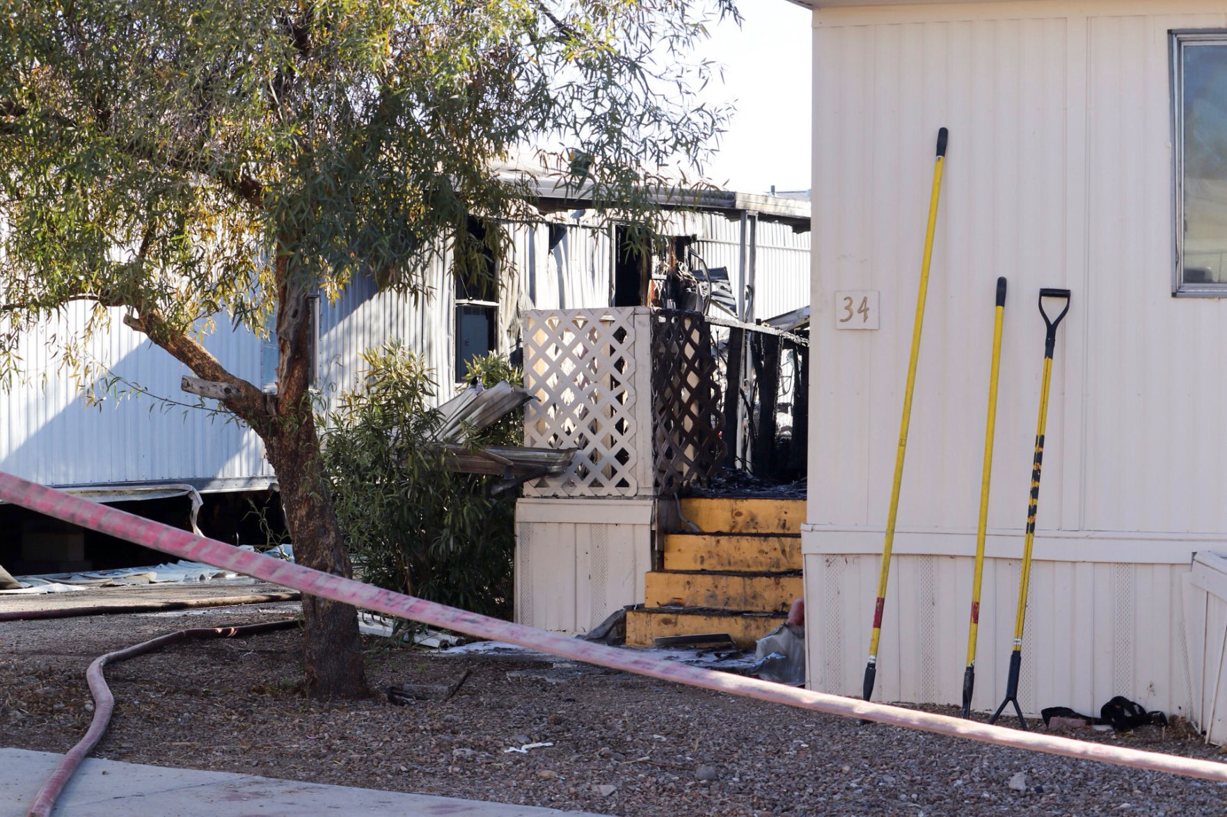 photos two alarm fire engulfs two homes in flowing wells local rh tucson com