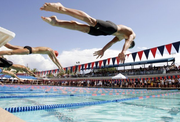 Photo gallery speedo high school swim meet promo for Deans high school swimming pool